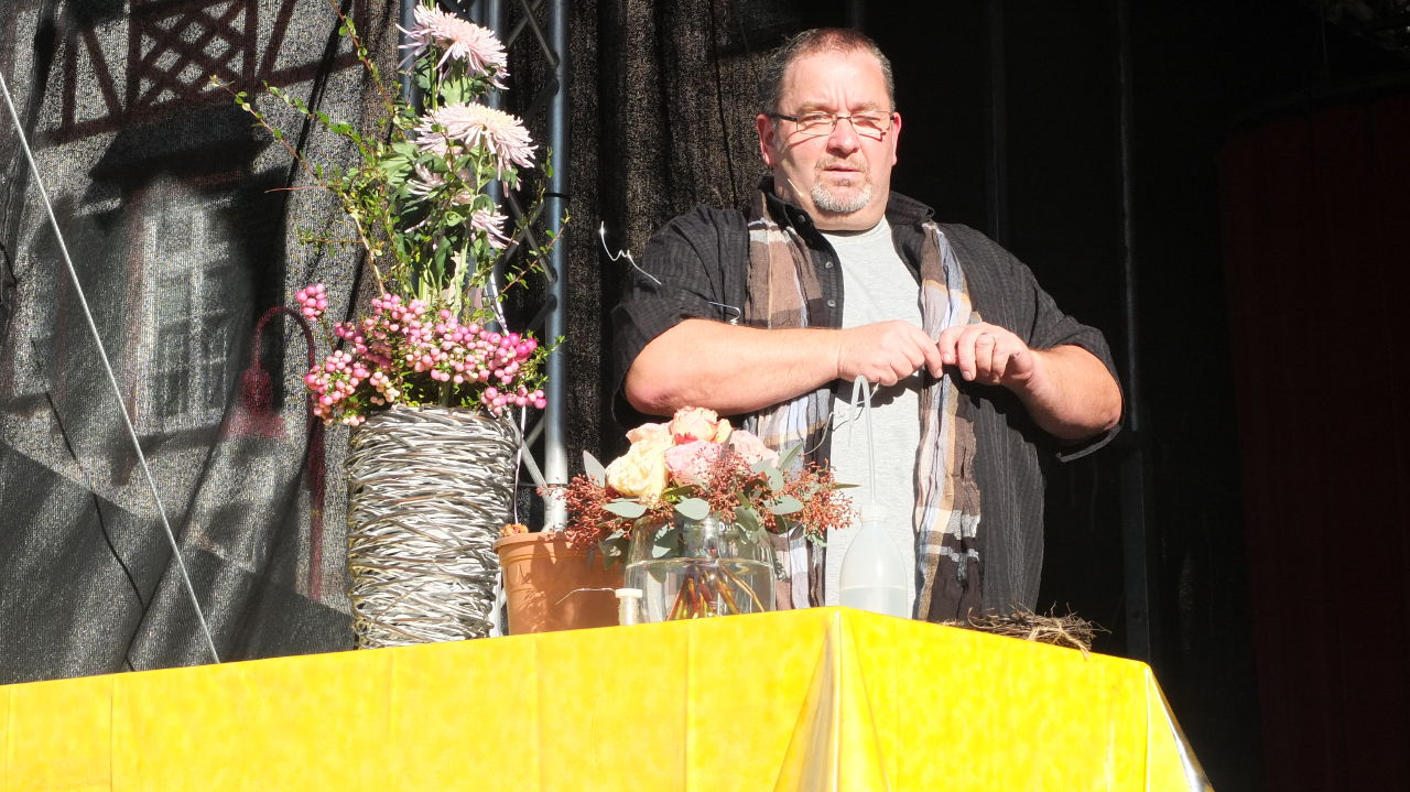 Karl-Heinz Busam auf der Chrysanthema