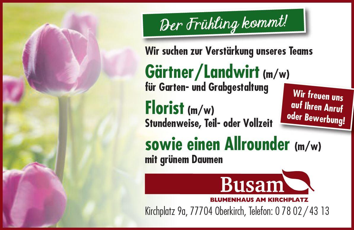 neue Floristen und Gärtner gesucht