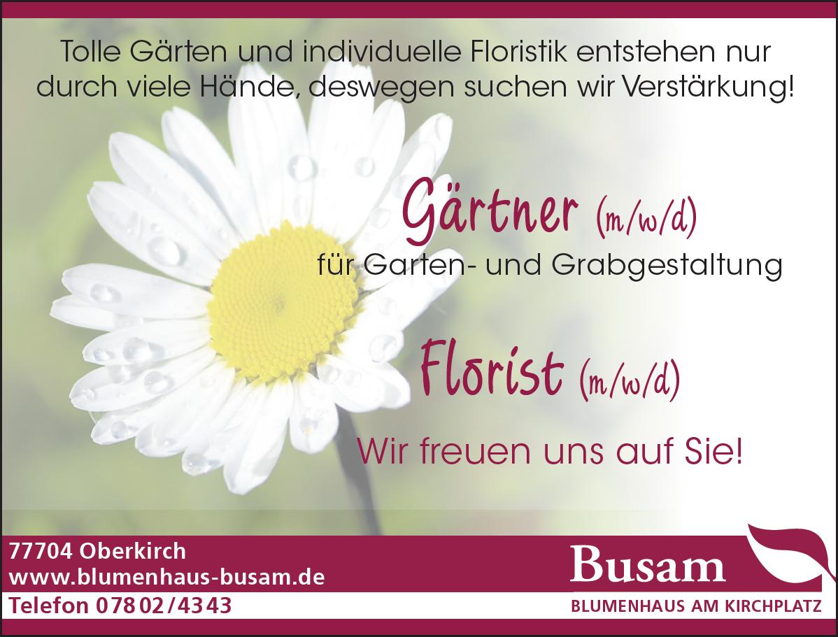 Stellenanzeige Gärtner Florist